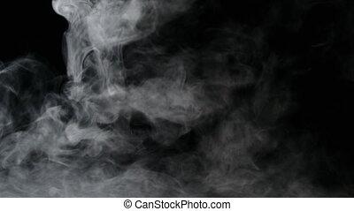 Isolated Fog or Smoke - Isolated fog or smoke move on black...
