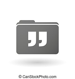 Isolated folder icon with quotes