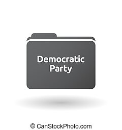 Isolated folder signal with  the text Democratic  Party