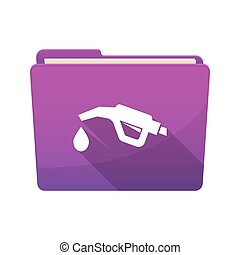 Isolated folder with a gas hose icon