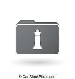 Isolated folder with a  king   chess figure