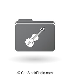 Isolated folder with a violin