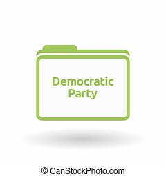 Isolated folder with  the text Democratic  Party