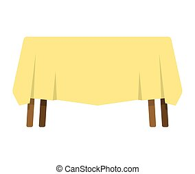 isolated., fondo, tavola, tovaglia, bianco, mobilia