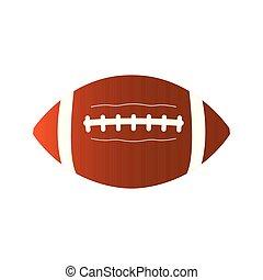 Isolated football ball icon