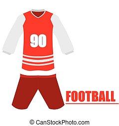 Isolated football uniform