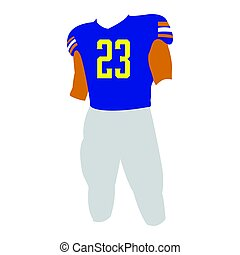 Isolated football uniform on a white background, Vector...