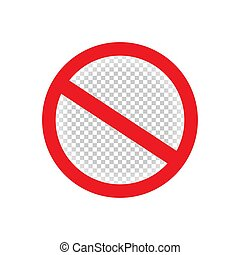 isolated forbid ban red sign symbol