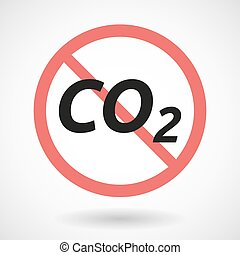 Isolated forbidden signal with the text CO2