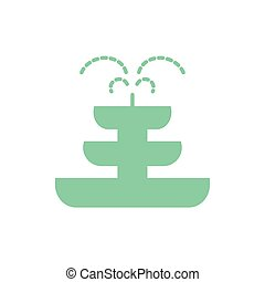 Isolated fountain flat style icon vector design