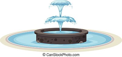 Isolated fountain on white background
