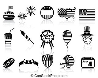 Fourth of July icons set - isolated Fourth of July icons set...
