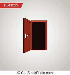 Isolated Frame Flat Icon. Approach Vector Element Can Be Used For Frame,  Door,