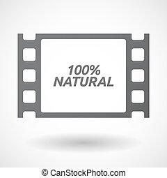 Isolated frame with the text 100% NATURAL
