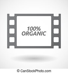 Isolated frame with the text 100% ORGANIC