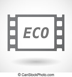 Isolated frame with the text ECO