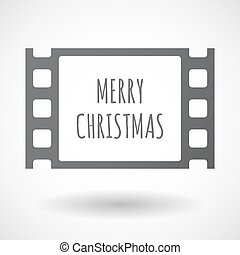 Isolated frame with    the text MERRY CHRISTMAS
