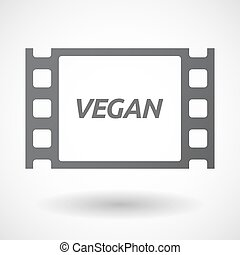 Isolated frame with the text VEGAN