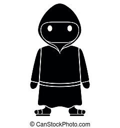 Isolated cute franciscan monk. Vector illustration design