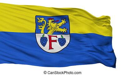Isolated Freinsheim city flag, Germany - Freinsheim flag,...