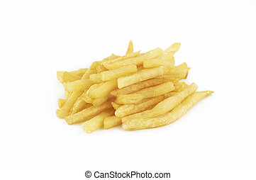 isolated french fries - french fries
