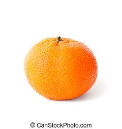 Isolated fresh mandarin