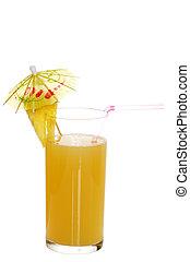 fresh pineapple juice with garnish