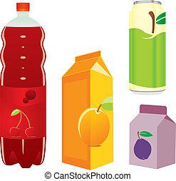 isolated fruit juice recipients