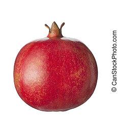 isolated fruit on white,a pomegranate - isolated fruit on...