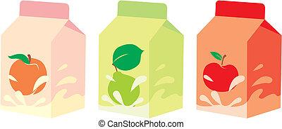 isolated fruit yogurt carton boxes