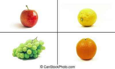 Isolated Fruits Rotating Montage