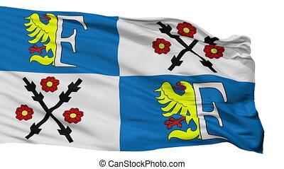 Isolated Frydek Mistek city flag, Czech Republic - Frydek...