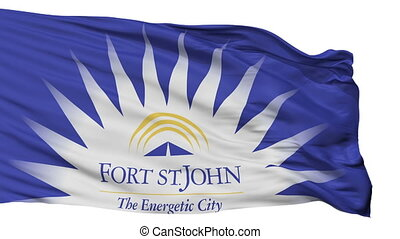 Isolated FSJ city flag, Canada - FSJ flag, city of Canada,...