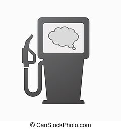 Isolated fuel pump with a comic cloud balloon