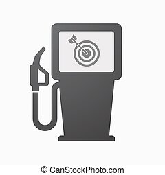 Isolated fuel pump with a dart board - Illustration of an...