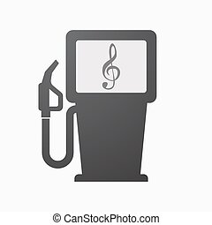 Isolated fuel pump with a g clef - Illustration of an...