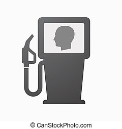 Isolated fuel pump with a male head