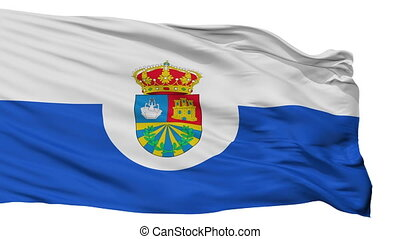 Isolated Fuenlabrada city flag, Spain - Fuenlabrada flag,...
