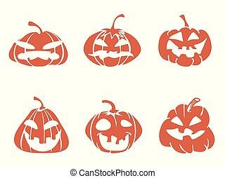 funny cartoon halloween pumpkin icons