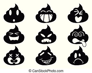 funny smiley shit face icons