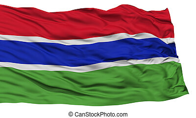 Isolated Gambia Flag