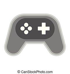 Isolated gamepad symbol on white background