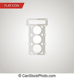 Isolated Gasket Flat Icon. Packing Vector Element Can Be...
