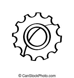 Isolated gear icon on a white background