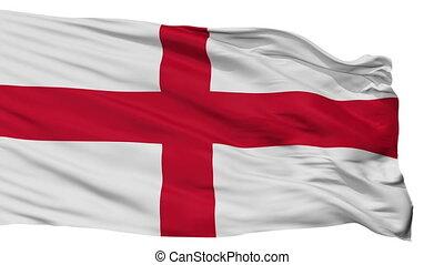 Isolated Genoa city flag, Italy - Genoa flag, city of Italy,...
