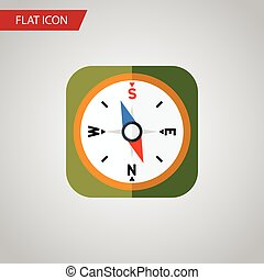 Isolated Geography Flat Icon. Instrument Vector Element Can Be Used For Orientation, Geography, Compass Design Concept.