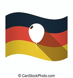 Isolated Germany flag with a balloon
