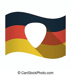 Isolated Germany flag with a plectrum