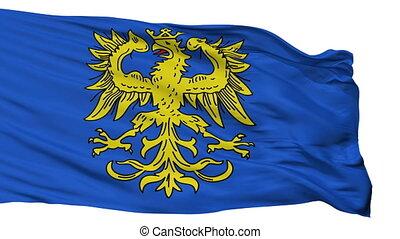 Isolated Germersheim city flag, Germany - Germersheim flag,...