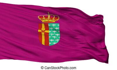 Isolated Getafe city flag, Spain - Getafe flag, city of...